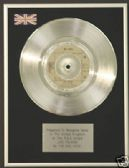 "BEE GEES - 7"" Platinum Disc -  JIVE TALKIN"